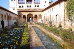 De tuinen bij het Alhambra
