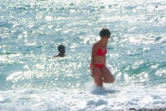 zwemmen in de zee